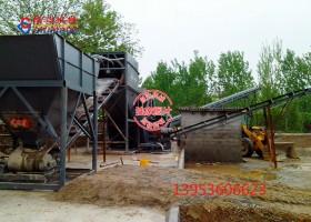 大型日产1500吨洗砂机工作现场
