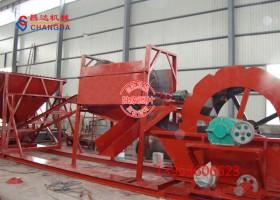 砂石料场专用洗砂机生产现场
